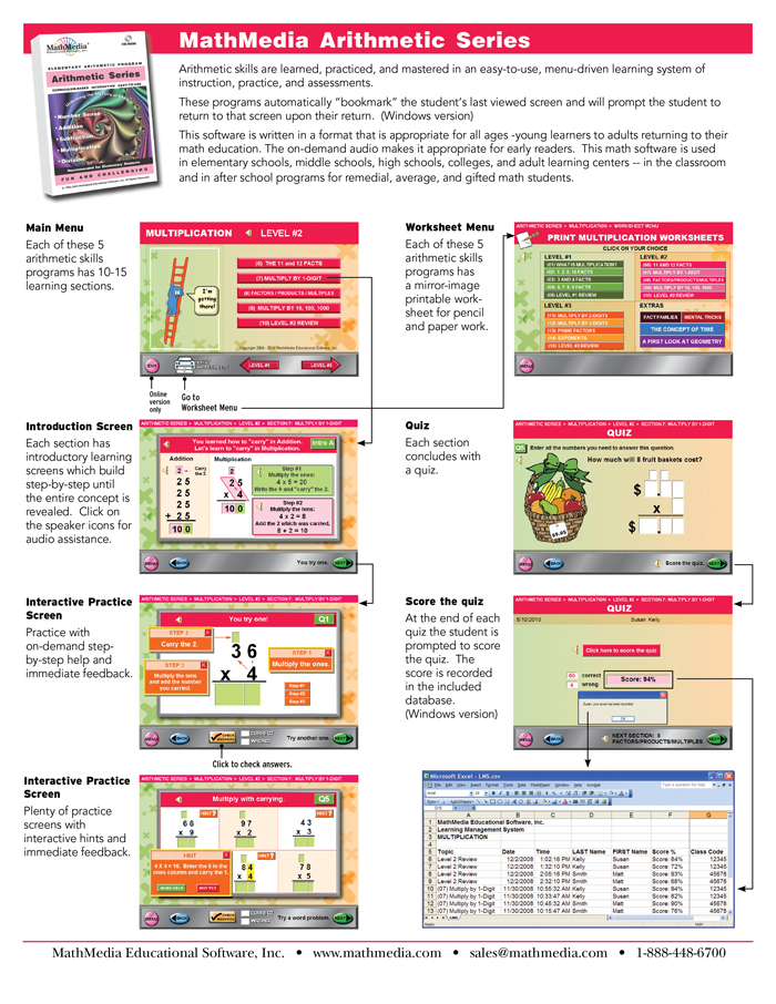 Arithmetic Series Learning System