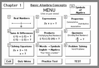 Chapter 1:<br>Learning Basic Algebra Concepts