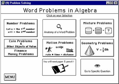 Chapter 1<br>Word Problem Section