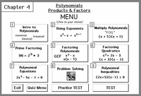 Chapter 4:<br>Polynomial Products & Factors
