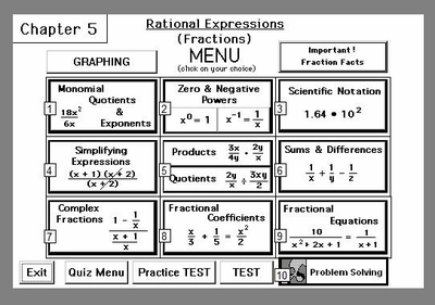 Chapter 5:<br>Rational Expressions<br>(Algebraic Fractions)