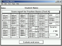 Comprehensive TEST<br>Work is scored and stored.