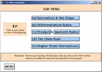 Differentiation Sub-Menu