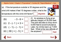 Example: Chapter 1 : Section 2A : Signed Numbers Quiz