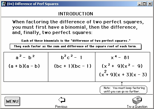 What is meant by order of polynomial and how does it
