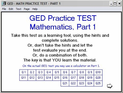 GED 2002 Math Practice Test - Part 1
