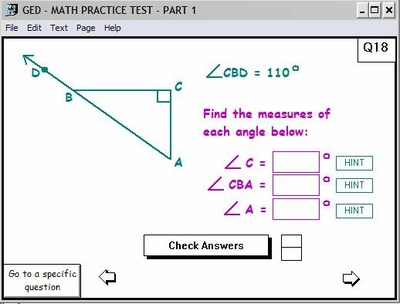 GED Practice Test Questions<br>Score each question or score the whole test!