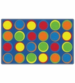 Sitting Spots Primary Educational Classroom Rug