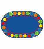 Sitting Spots Primary Oval Educational Classroom Rug