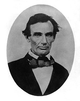 1858 Portrait of Abraham Lincoln  Photo Print