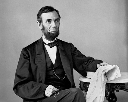 1863 President Abraham Lincoln Portrait Photo Print