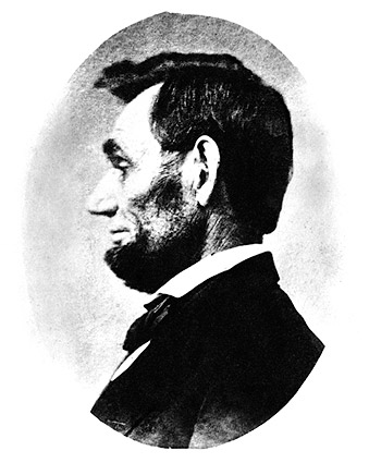 1863 Profile View of Abraham Lincoln  Photo Print