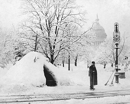 1888 Blizzard U.S. Capitol Washington D.C. Photo Print