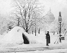 1888 Blizzard U.S. Capitol Washington D.C. Photo Print for Sale