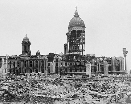 1906 San Francisco City Hall Earthquake Ruins Photo Print