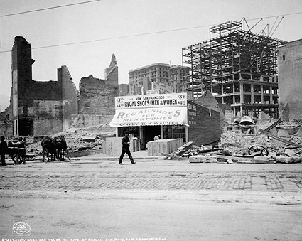 1906 San Francisco Earthquake Shoe Shop Photo Print