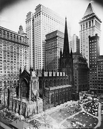 1916 Trinity Church Graveyard New York City Photo Print