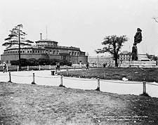 1920 Battery Park & Verrazano Statue NYC Photo Print for Sale