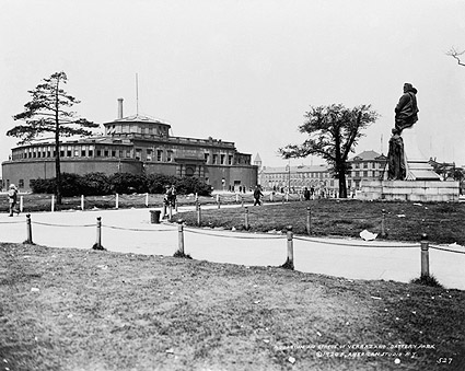 1920 Battery Park & Verrazano Statue NYC Photo Print