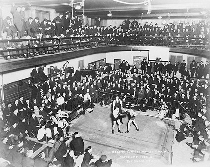1920s Boxing Exhibition at a YMCA Photo Print