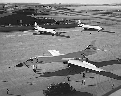 1st Three B-1 Lancer Bombers at Edwards Photo Print