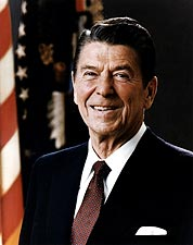 President Ronald Reagan Portrait Photo Print for Sale
