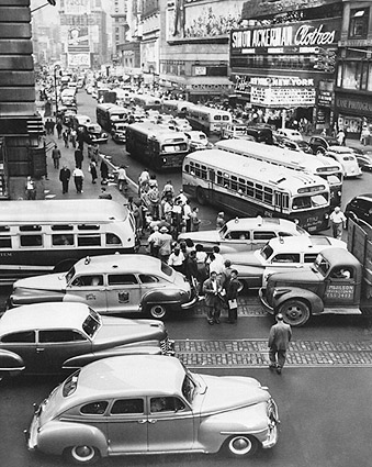 43rd St. / Times Square New York City 1948 Photo Print