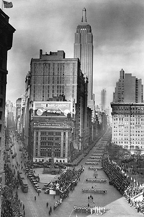5th Avenue Parade & Empire State Building Photo Print