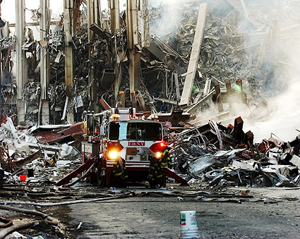9/11 FDNY Fire Engine at WTC Ground Zero Photo Print