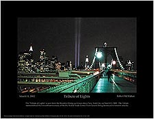 "9/11 New York City Memorial ""Tribute of Lights"" Mini Poster Print For Sale"