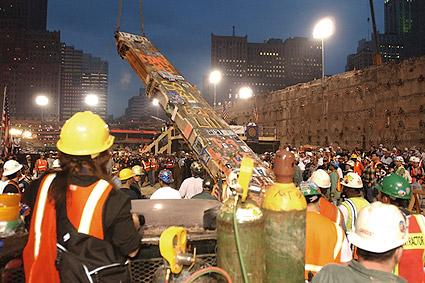 9/11 WTC Ground Zero Removing the Last Beam Photo Print