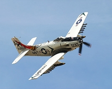 A-1 Skyraider Aircraft Banking Photo Print