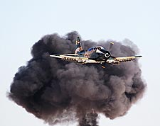 A-1 Skyraider w/ Smoke Cloud Photo Print for Sale