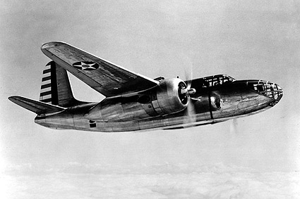 A-20 Havoc in Flight from Below WWII Photo Print