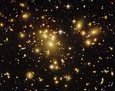 Abell 1689 Galaxy Cluster Hubble Space Telescope Photo Print for Sale