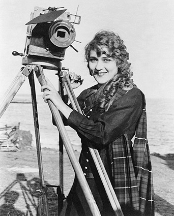 Actress Mary Pickford Portrait w/ Camera Photo Print