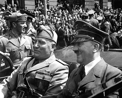 Adolf Hitler and Benito Mussolini in Munich WWII Photo Print