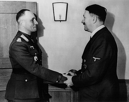 Adolph Hitler Greeting General Erwin Rommel Photo Print