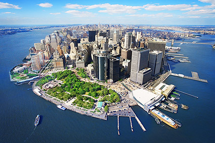 Aerial Lower Manhattan New York City Photo Print
