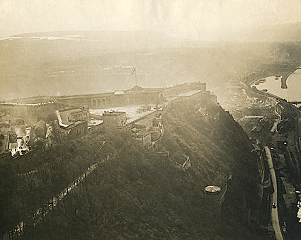 Aerial View of Ehrenbreitstein Fortress in Germany WWI Photo Print