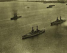 Aerial View of U.S. Navy Atlantic Fleet 1920 WWI Era Photo Print for Sale