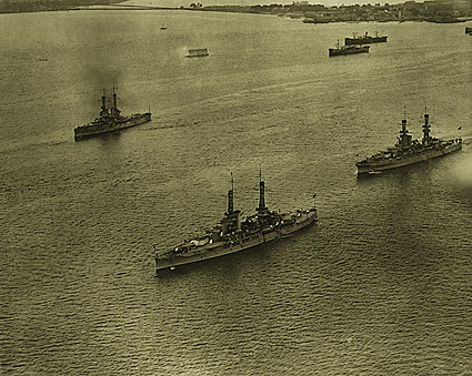 Aerial View of U.S. Navy Atlantic Fleet 1920 WWI Era Photo Print