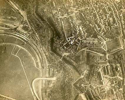 Aerial View of Verdun in France WWI Photo Print