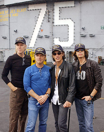 Aerosmith Steven Tyler Aboard USS Harry Truman Photo Print