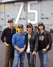 Aerosmith Steven Tyler Aboard USS Harry Truman Photo Print for Sale