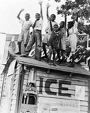 African American Boys w/ Coca Cola Sign Photo Print for Sale