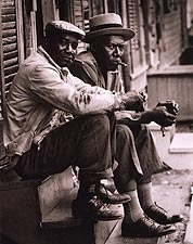 African American Men on Stoop Charleston 1962 Photo Print for Sale