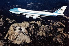 Air Force One 747 Over Mount Rushmore Photo Print for Sale