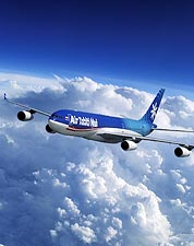 Air Tahiti Nui Airbus A340 in Flight Photo Print for Sale