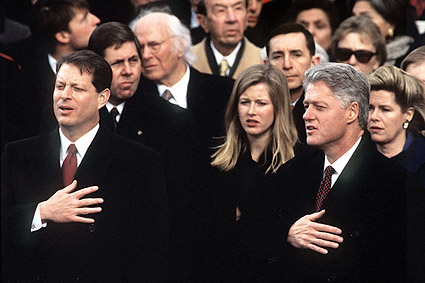 Al Gore and Bill Clinton 1997 Inauguration Photo Print